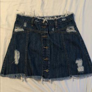 Lf carmar button down denim skirt